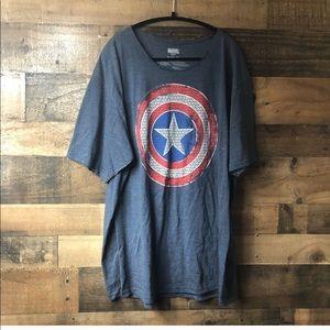Marvel Captain America Women's Casual T-shirt
